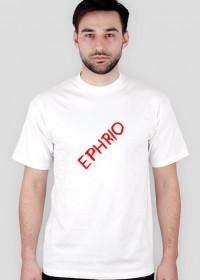 Męska koszulka z małym logo (biała)