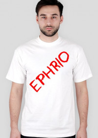 Męska koszulka z logo (biała)