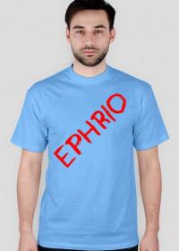 Męska koszulka z logo (błękitna)
