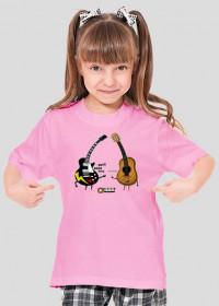 Koszulka dla dziewczynki - Rock & Roll. Pada