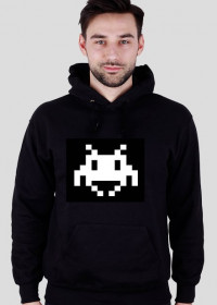 Bluza z kapturem space invader