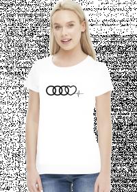 'Audi heart puls' koszulka damska,2