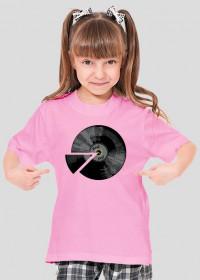 Koszulka dla dziewczynki - Winyl płyta. Pada