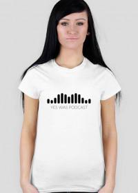 Damska koszulka z czarnym logo
