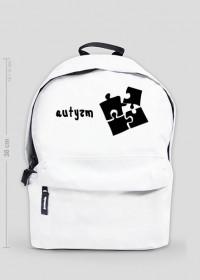 plecak autyzm czarne puzzle
