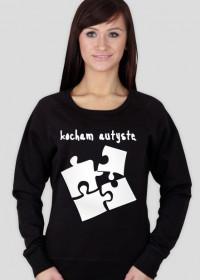bluza damska białe puzzle