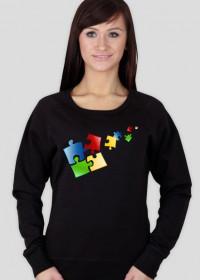 bluza damska puzzle kolorowe