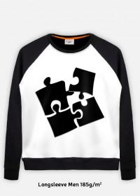 bluza męska czarne puzzle