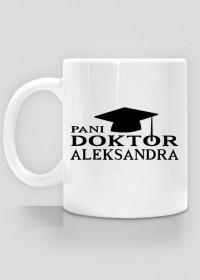 Kubek Pani doktor z imieniem Aleksandra