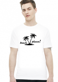 Beach, please (t-shirt) ciemna grafika