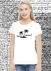 Beach, please (bluzka damska) ciemna grafika