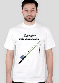 Genów nie oszukasz - koszulka wędkarz
