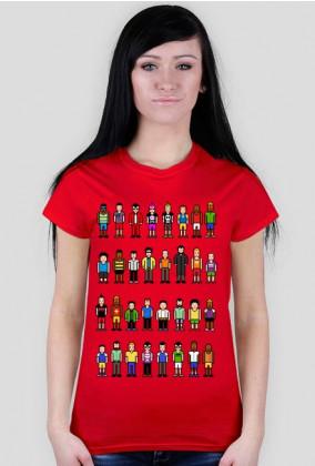 Pixel art – ludzie z pikseli, avatary (damski t-shirt, różne kolory)