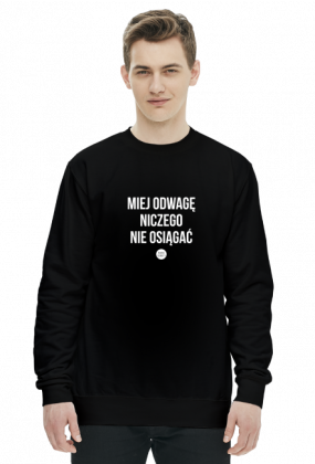 Bluza_miej odwagę czarna