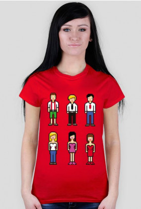 Pixel art – pikselowane ludziki t-shirt (różne kolory)