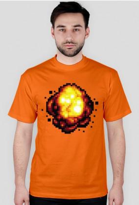Pixel art – retro eksplozja z pikseli na koszulce