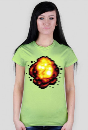 Pixel art – retro wybuch z pikseli na koszulce