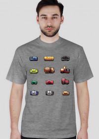 Pixel art – samochody z pikseli (różne kolory)
