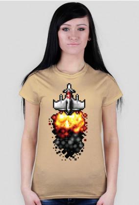 Pixel art – statek kosmiczny, t-shirt