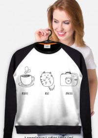 Coffee Cat Photos - bluza B/CZ