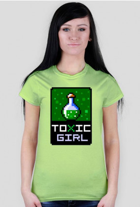 Pixel art – toxic girl – koszulka dla dziewczyny z charakterem