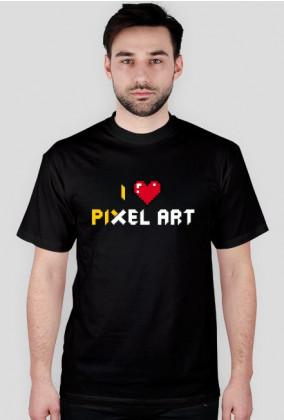 I Love pixel art – koszulka dla kochających piksele