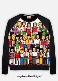 Pixel art – pikselowane ludziki bluza fullprint
