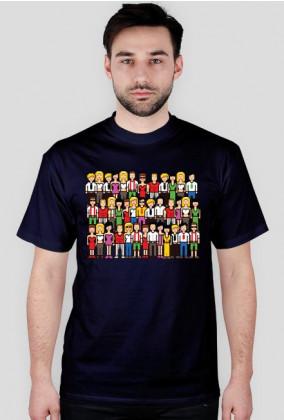 Pixel art – tłum pikselowanych ludzi