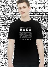 Prezent dla fana anime - Baka Otaku (Biały napis, Męska)