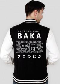 Prezent dla otaku - Baka Otaku (Premium, Biały napis, Męska)