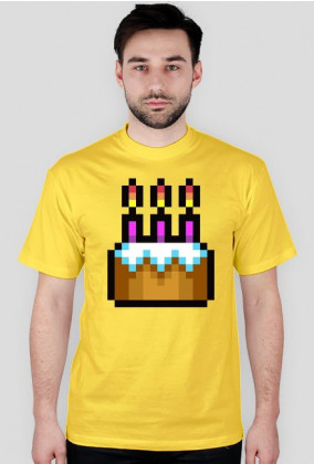 Pixel art – tort urodzinowy, happy birthday
