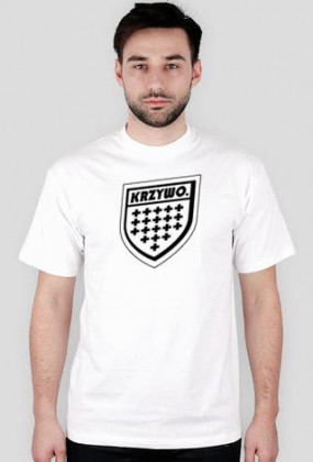 Krzywo Herb jak Prosto T-Shirt White Men