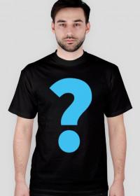Koszulka z wielkim znakiem zapytania czarna
