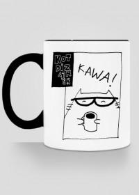 Kubek na kawusię z Kotem Dizajnerem