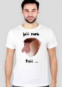 Koszulka Slim - Jaki nos (Biała)
