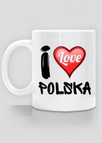 Kubek I Love Polska - nadruk jednostronny