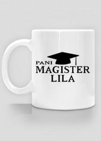 Kubek Pani Magister z imieniem Lila