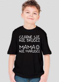 Czarne się nie brudzi (koszulka chłopięca)