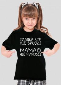 Czarne się nie brudzi (koszulka dziewczęca)