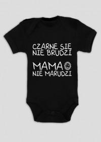 Czarne się nie brudzi (body niemowlęce)