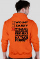 Wolny, Zajęty - Ogarniam Projekt (bluza męska kapturowa) ciemna grafika