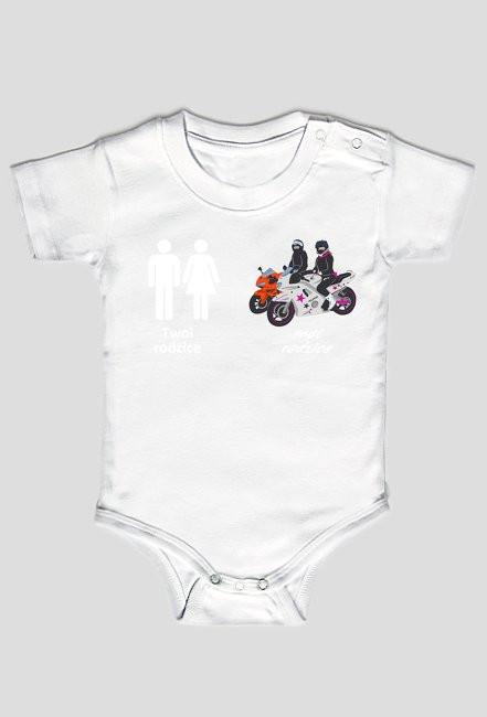 Rodzice motocykliści body dziecięce v2