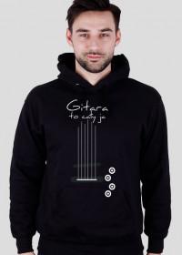 Gitara to cały ja - elektryczna bluza z kapturem