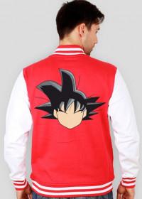 Dragon Ball Goku - Bluza męska college baseball