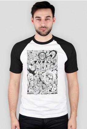 Koszulka Harajuku - Tshirt w mangę - Horror Daruma - Prezent dla otaku