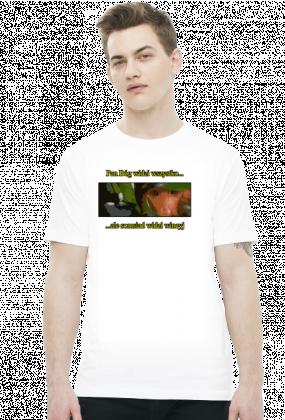 """""""Pan Bóg widzi wszystko... ale somsiad widzi wincyj"""" - Śmieszna koszulka z somsiadem (Męska)"""