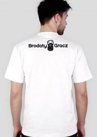 BRODATY GRACZ - KOSZULKA - WHITE - P/T