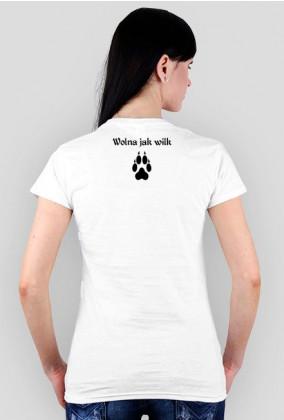 """Koszulka Wilk """"Wolna jak wilk"""""""