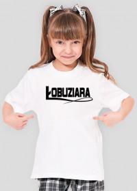 Łobuziara (koszulka dziewczęca) ciemna grafika