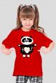 Panda Hug Girl's T-shirt 2 red